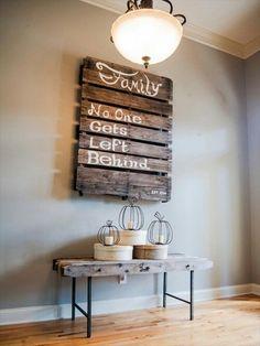 DIY Pallet Wood Wall Art • Tips, Ideas & Projects! • Pallet Wall Art