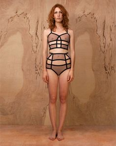 cut out cage style lingerie by mathmystic