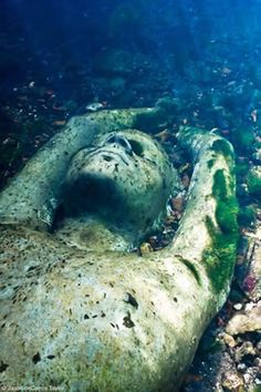 Beautiful and ethereal underwater sculptures in Canterbury, UK. The artist is Jason de Caires Taylor.