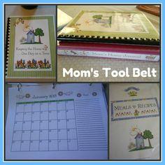 Moms Tool Belt - How I make my own calendars, organizers, and homeschool planners using Mom's Tool Belt.