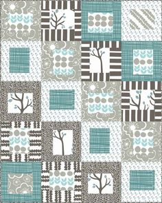 Red Rooster Quilts: Shop | Category: Patterns - Download for FREE | Product: Bellas Bird Schooner Blue Downloadable Quilt Pattern