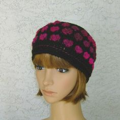 Sweet Heart Hat for Women and Teens by CrochetHatsForYou on Etsy