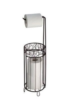 Amazon.com: InterDesign Twigz Toilet Tissue Roll Stand Plus, Bronze: Home & Kitchen $21