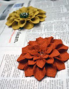 DIY Felt Flowers w/ hot glue gun.  I need free time so I can get crafty.