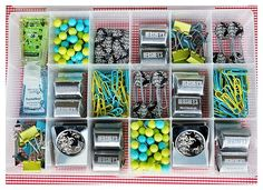 Teacher Gift Idea- fishing tackle box filled with teacher necessities!