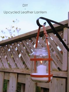 Light the way with a chic belt-turned-lantern #DIY!