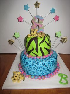 For My Daughters 8th Birthday The Cakes Are Buttercream With MMF