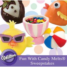There are hundreds of ways to use Wilton Candy Melts® candy in treat decorating. What's your favorite? Pin treats that you created with Wilton Candy Melts candy and you could win a Wilton prize package. Please read the complete rules for more information. Good luck!