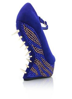 My Kinky Foot - A Fetish Footwear Store: Lady GaGa Shoes: Spiked Embellished Heel-Less Platforms