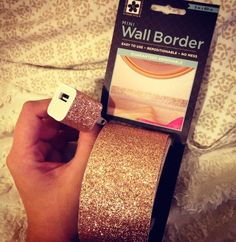 Just in case you didn't know this exists at Walmart for less than $4 per roll. I'm about to glitter everything! Votives, notebooks (already got my iPhone charger.) No more Modge Podge and glitter nightmares! roll, walmart crafts, glitter crafts, tape, diy iphone case glitter, modg podg, glitter notebook, gold and glitter diy, glitter everyth