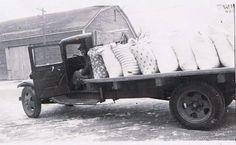 Newport Nebraska ... hauling feedsacks