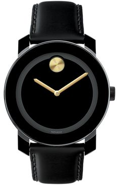 Movado BOLD, black and gold