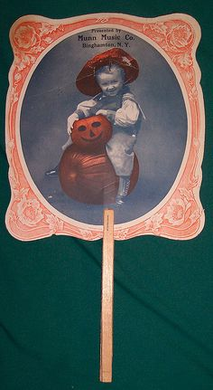 Vintage Halloween Advertising Fan...