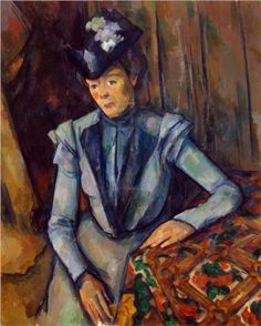 Woman in Blue .Madame Cezanne.