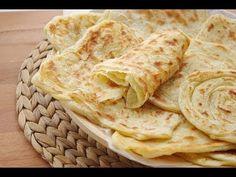 Recette de msemen : Crêpes feuilletées   /  Moroccan pancakes