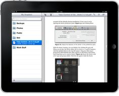 How to Share Files With Dropbox on iPad