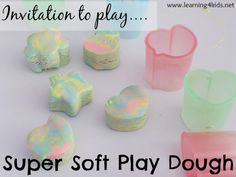 Play dough with conditioner and Cornflour Super Soft Play Dough