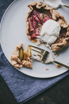 Rhubarb and Rye-Cinnamon Tartlets via Top With Cinnamon