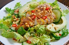 Thai Grilled Chicken Satay Salad