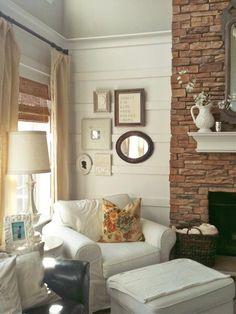 white planks on walls