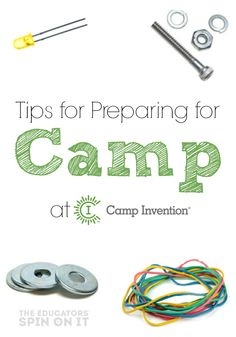 Tips for Preparing for Camp Invention from The Educators' Spin On It #spon
