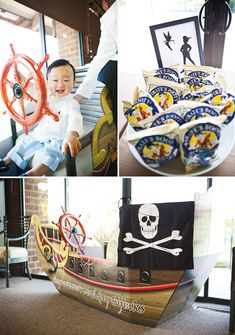 Neat idea to serve Pirate's Booty (white cheddar cheetos) at the pirate party