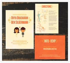 We had our invites designed by @Andres Montano and printed via minted. Andres is pretty  much the man.