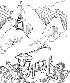 Bible Story Coloring Pages On Pinterest