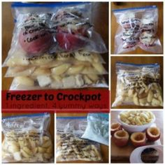 Freezer To Crockpot Cooking - Apple Recipes & Instructions.