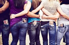Cute idea for senior year friends; cousins; siblings, etc.  Could use a younger picture to see how much they've changed...