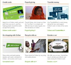 Credit Cards, Payroll Giving, Money Transfer, Give-As-You-Live, Phone Recycling & Donate-a-Car http://oxf.am/ufn