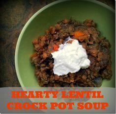 Hearty Lentil Crock Pot Soup