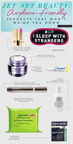 airplane beauty tricks and products that will save your face when you #travel