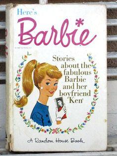 Vintage Barbie Book Here's Barbie 1962