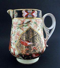 Antique Crown Derby English Porcelain Imari Pitcher Jug | eBay