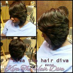 Feathered SewIn Weave Bob! Kiva The Hair Diva!!