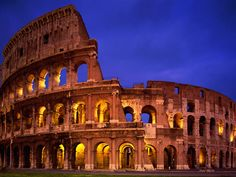 Rome, Italy, fun fact, they used to pack this entire stadium in 90 seconds. WOW!