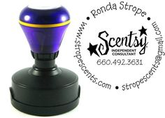 Personalized Scentsy stamp.