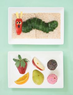 Lotta Magazine's very hungry feast — a bento lunch inspired by Eric Carle's Very Hungry Caterpillar