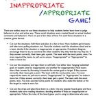 The Inappropriate / Appropriate Game