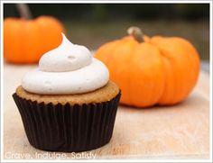 Pumpkin Cupcakes with Cinnamon Cream Cheese