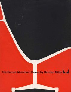 graphic design, red, chairs, vintage graphic, eames, poster, graphics, brochur, herman miller