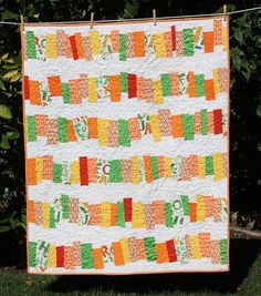 such a fun scrappy quilt