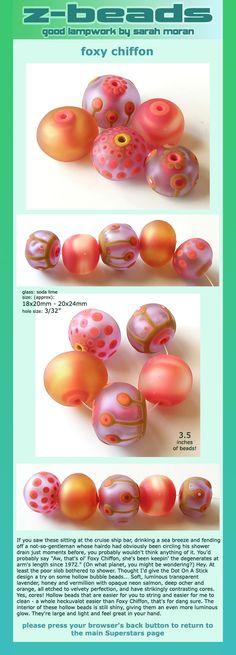 Foxy Chiffon beads by Sarah Moran