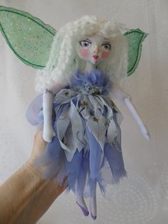 Fairy in Wonderland soft ball jointed doll by Kaeriefaerie52, $40.00