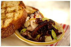 Best grilled octopus I've ever had... I never would've thought to put feta and olives with grilled octopus! @Prima