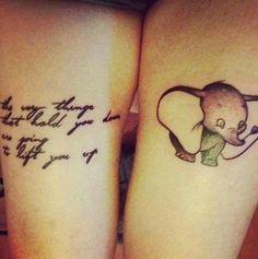 tattoo idea, dumbo tattoo, disney tattoo, simpl tattoo