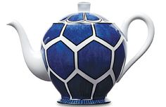 Hermes Blue-and-White Teapot with a Twist.