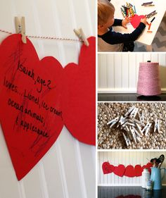 Valentine Garland Keepsake - love this tradition, will definitely be starting this year!