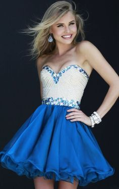 2014 Sweetheart Homecoming Dresses Short Beaded chiffon Party Prom Evening Gown #Handmade #BallGown #Cocktail